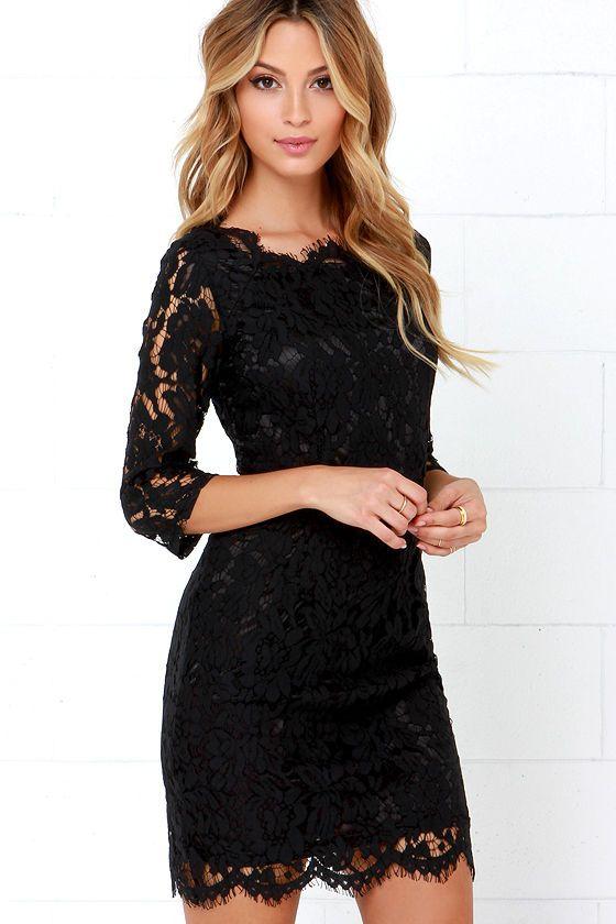 1000  ideas about Black Lace Dresses on Pinterest - Dress black ...