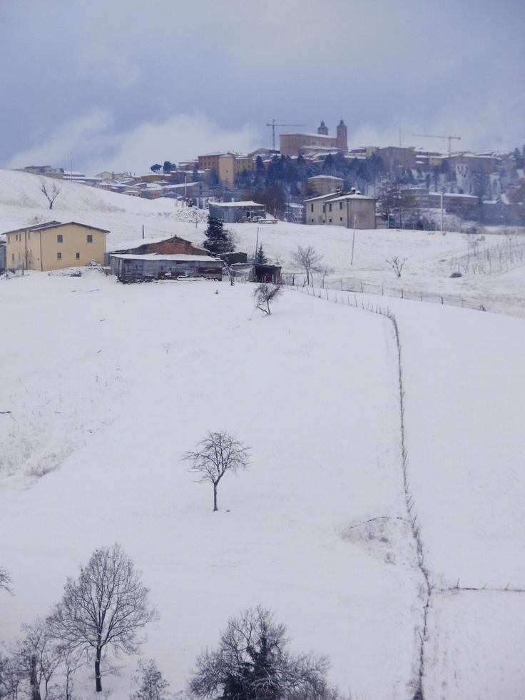 Brighter snow #Camerino #Le Marche #Italian landscape