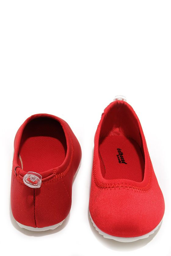 Nautical Mile Red Ballet Flats at Lulus.com!