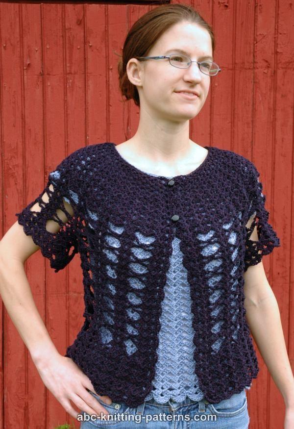 ABC Knitting Patterns - Midsummer Night Lace Cardigan