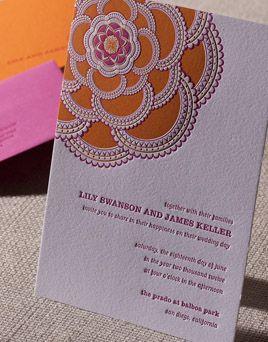 Affordable Letterpress Wedding Invitations Stitched