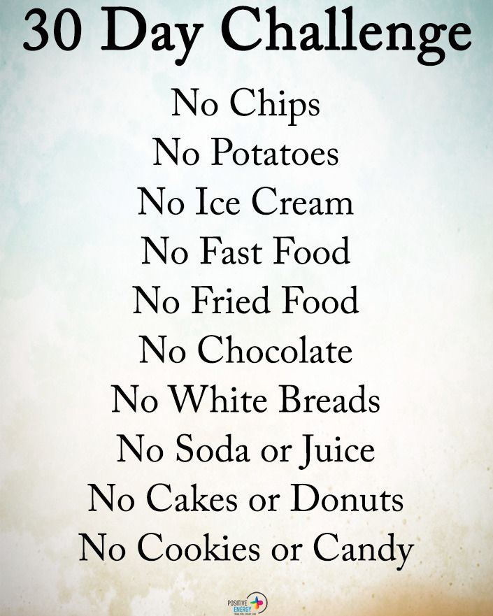 Type Yes If You Agree 30 Day Challenge No Chips No
