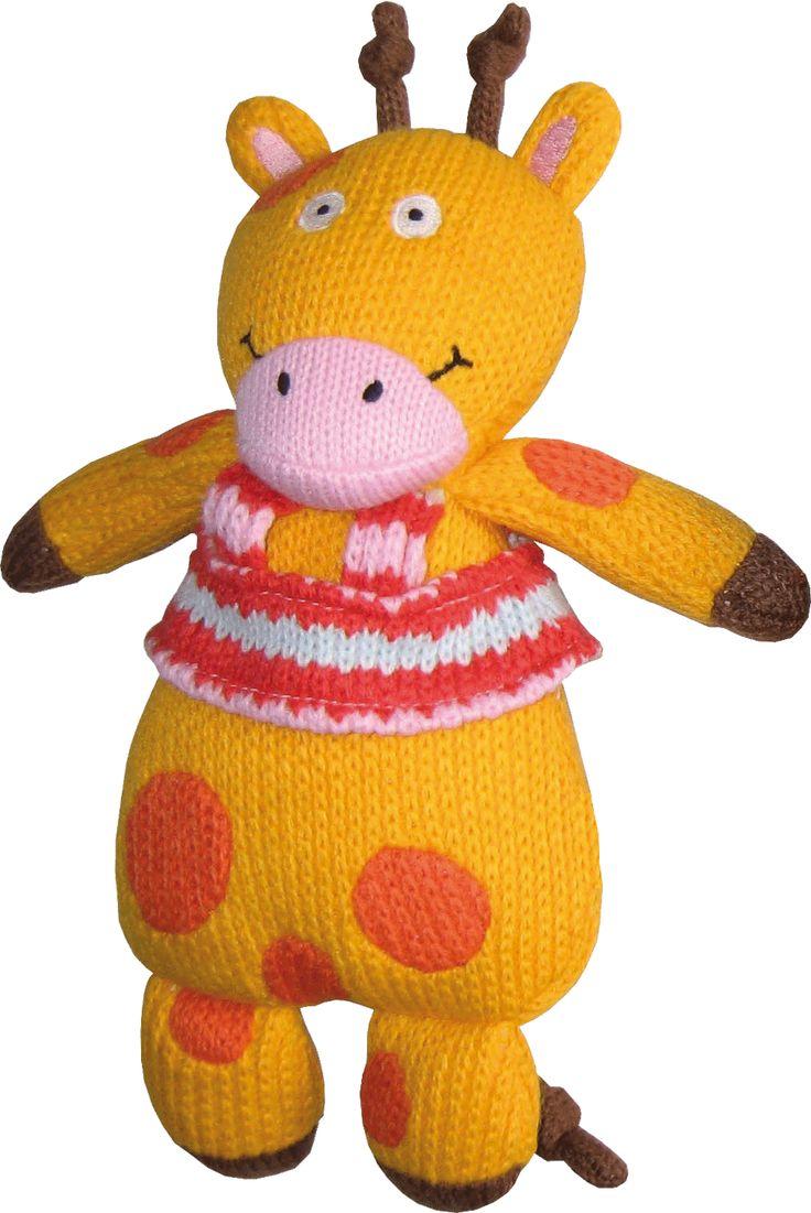 Joséphine la girafe des personnages de la Wooly Family par Latitude Enfant. Jouet ludique. Doudou d'éveil. Produit de puériculture.