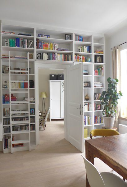 10″ plants on each side of the bookcase would work nicely – Lois Lowry
