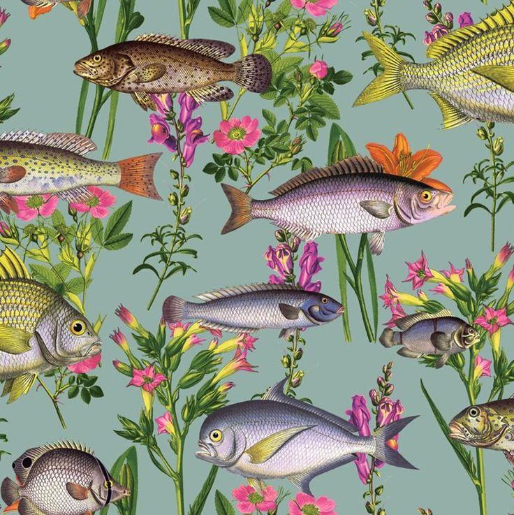 Lagoon Multi wallpaper by Albany