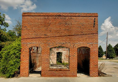 Enigma GA Berrien County Abandoned Early 20th Century Brick Bank Building Picture Image Photo © Brian Brown Vanishing South Georgia USA 2012...