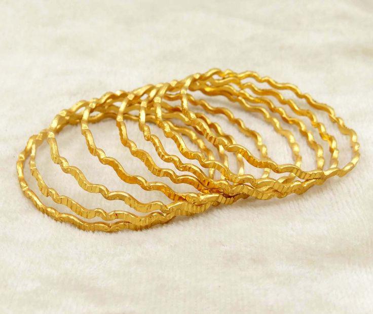 Gold Plated Bangle Set @  £5.70