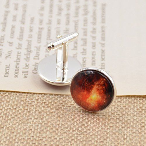 Amazon.com: Cabochon Cuff Links Glass Time Stone Dome Silver Shirt Cufflinks Wedding Collection 1 Pair: Jewelry