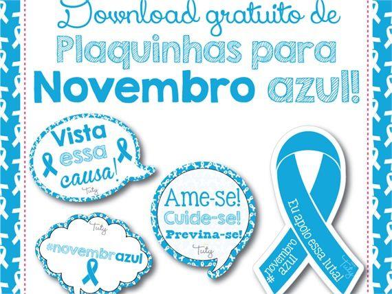 Plaquinhas Novembro Azul » Download Grátis » Estúdio Tuty