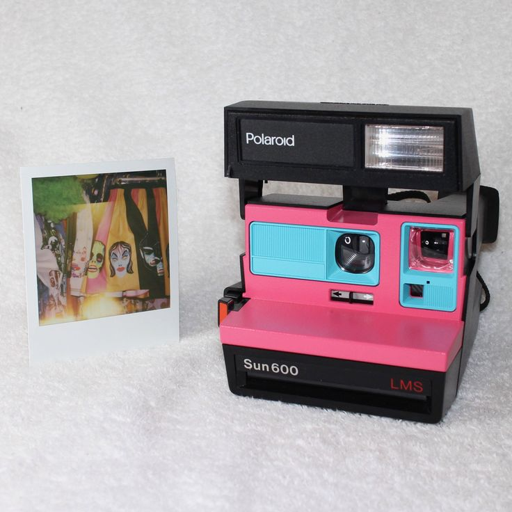 Upcycled Pink and Turquoise Polaroid Sun 600 - Cleaned, Tested and Ready for Fun by UpcycledClassics on Etsy https://www.etsy.com/listing/552965476/upcycled-pink-and-turquoise-polaroid-sun