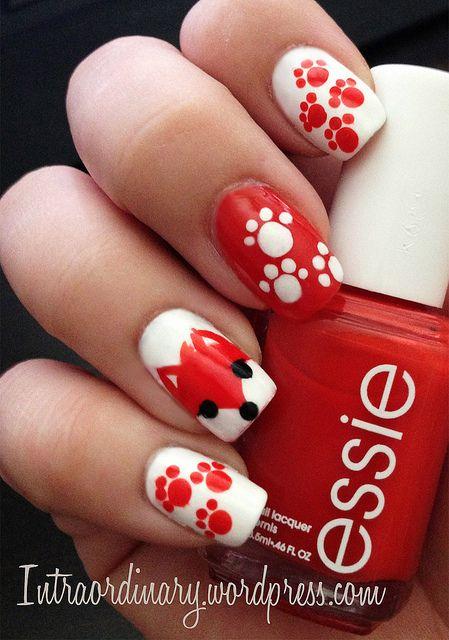 Fox Nails by intraordinary, via Flickr #foxnails #manicure #nailpolish #nailart