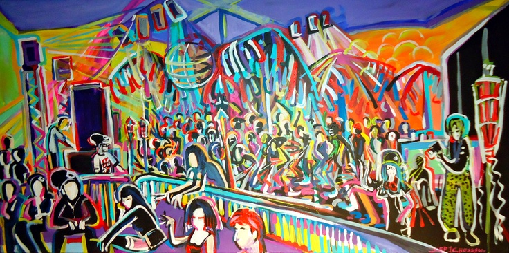 """Sharon Hodgson - """"Big Band"""" 24' x 48"""" For lease or purchase www.artli.ca Lease for $65 per month"""