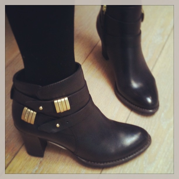 Black and gold boots from Tamaris