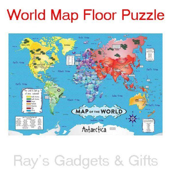 Mejores 9 imgenes de jigsaw puzzles en pinterest productos world map floor jigsaw puzzle 36pc gumiabroncs Images