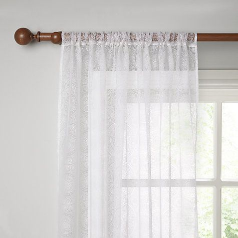 Buy John Lewis Persia Burnout Voile Panel Online at johnlewis.com