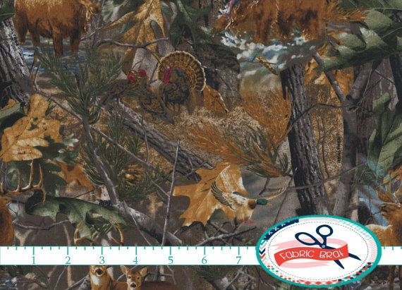 REAL TREE CAMOUFLAGE Fabric by the Yard Fat Quarter by FabricBrat