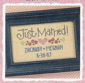 Just Married - Cross Stitch Pattern