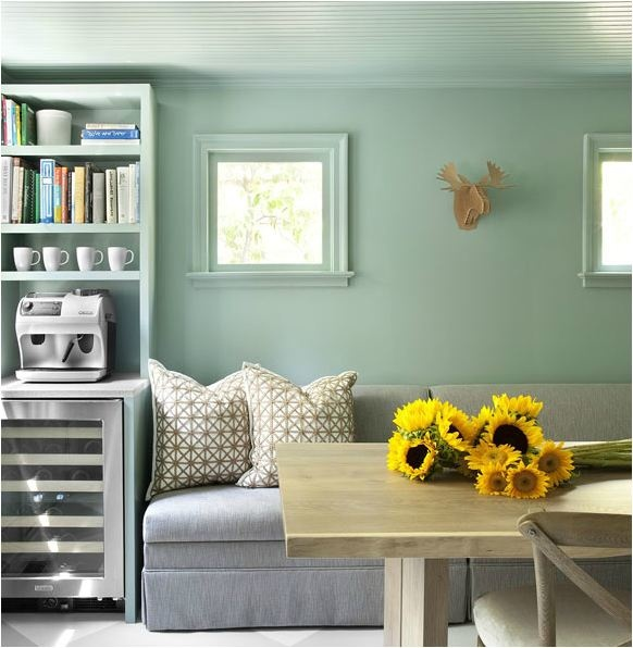Wall Colour Inspiration: Pale Sea Green Walls