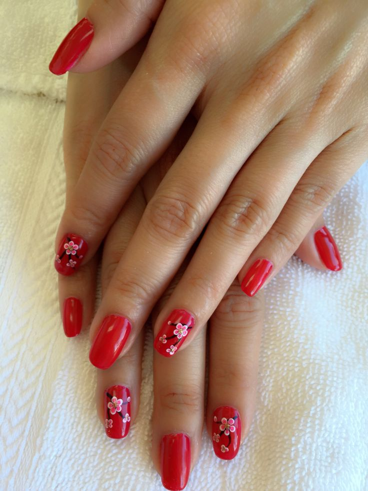 Chinese New Year nail New year's nails, Types of nails