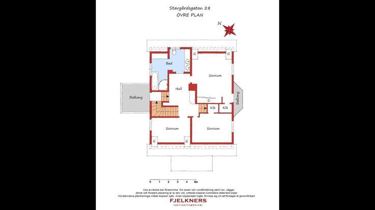 Alternativ platslösning uppe, balkongdörr i sovrum. Plus inbyggda garderober!