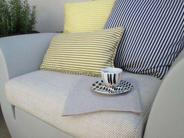 #PascalDelmotte #interiordesign #design #decorating #residentialdesign #homedecor #colors #decor #designidea #terrace #chair #coffee cup #pillows