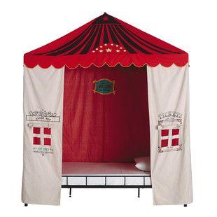 Tente Enfant En Coton Beige/rouge 200 X 200 Cm CIRCUS. Bed TentChild ...