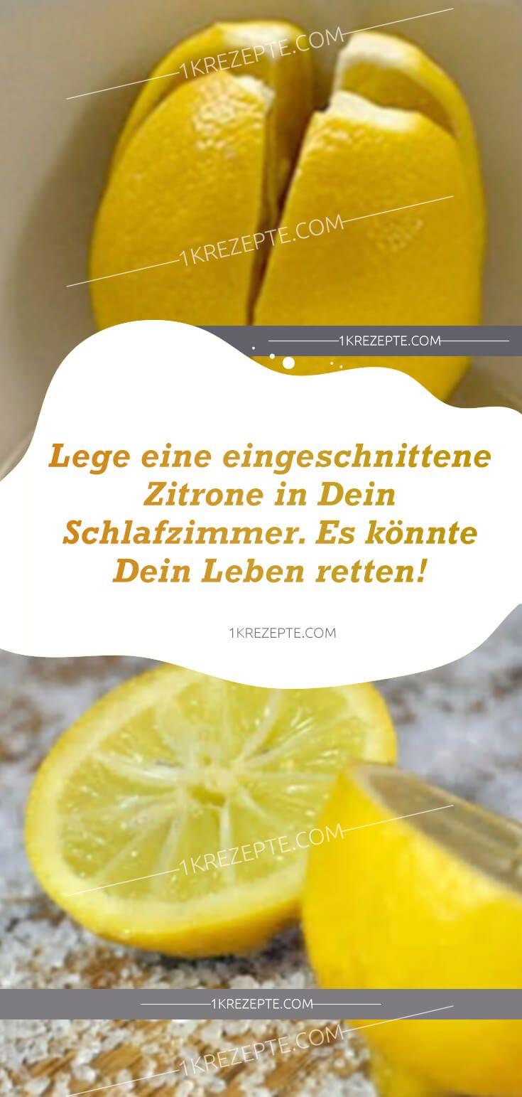 Lege eine eingeschnittene Zitrone in Dein Schlafzimmer. Es könnte ...