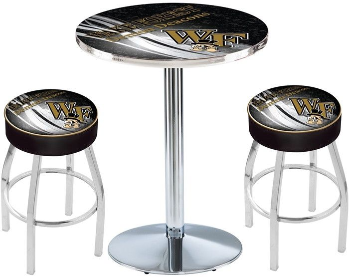 Wake Forest Demon Deacons D2 Chrome Pub Table Set.  Available in two table widths. Visit SportsFansPlus.com for Details.