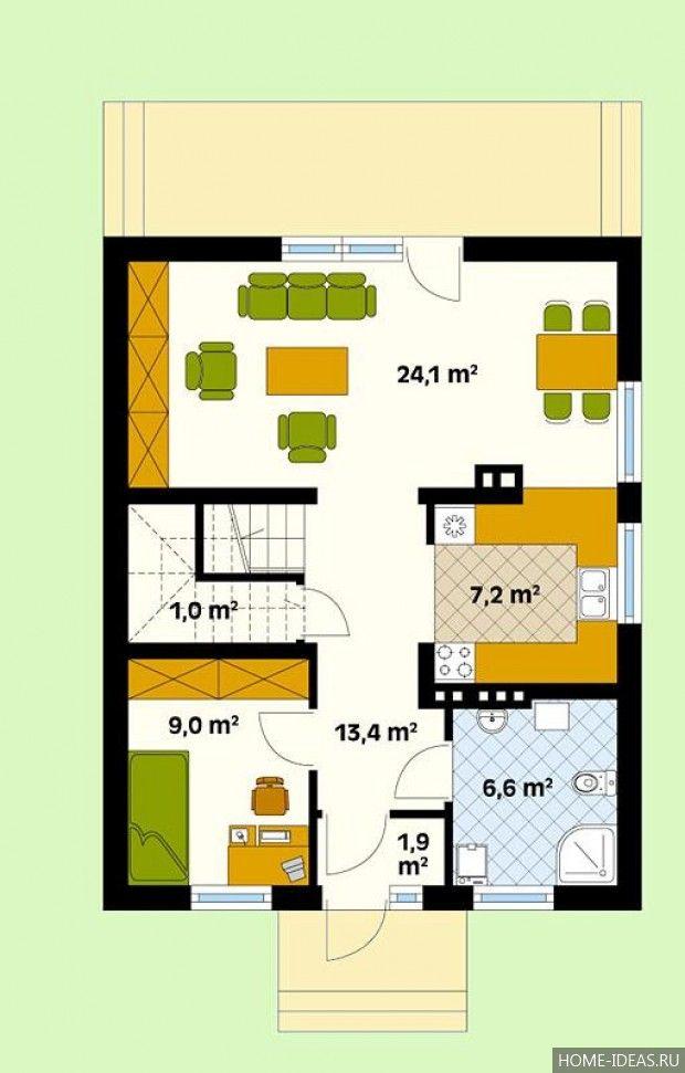 Готовые проекты домов с мансардой 8 на 10