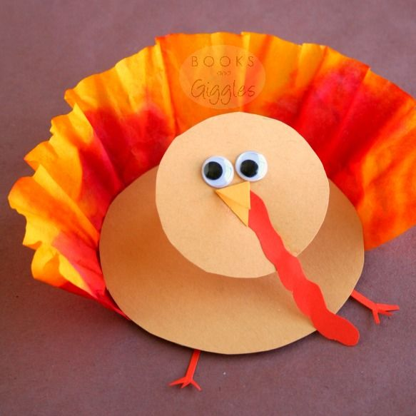 Irresistible 3-D Thanksgiving Turkey | You won't be able to help but smile when you see how cute these Thanksgiving crafts for kids are.