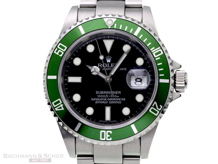 Rolex Submariner Date Ref-16610LV Green Bezel Stainless Steel Box Papers Bj-2007 LC 100 | Classic Driver Market