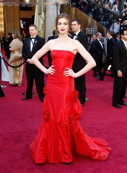 Anne Hathaway's Best Red Carpet Looks
