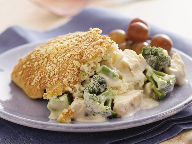 Layered Biscuit Chicken Divan A delightful meal that serves nine. It ...