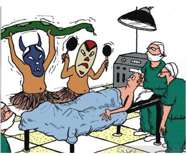 sátira sobre la medicina alternativa