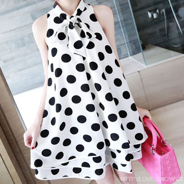 Hot sale Black and White Polka Dot Sleeveless Chiffon Maternity Dresses Casual Pregnancy Clothes plus size  Slim casual Maternit
