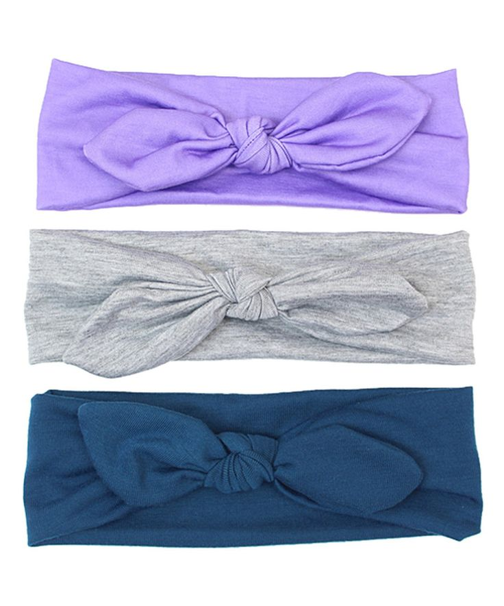 Look at this #zulilyfind! Charlotte Rose Couture Gray & Purple Knot Headband Set by Charlotte Rose Couture #zulilyfinds