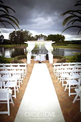 Garden Wedding Ceremony at Palmer Colonial golf course, set up by Circle of Love Weddings  Getting married soon?   Find out more from Gold Coast Celebrations ~ Tennille Jones, Marriage Celebrant