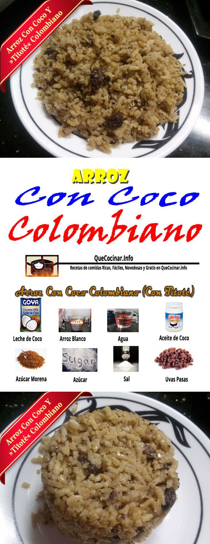 Arroz Con Coco Colombiano