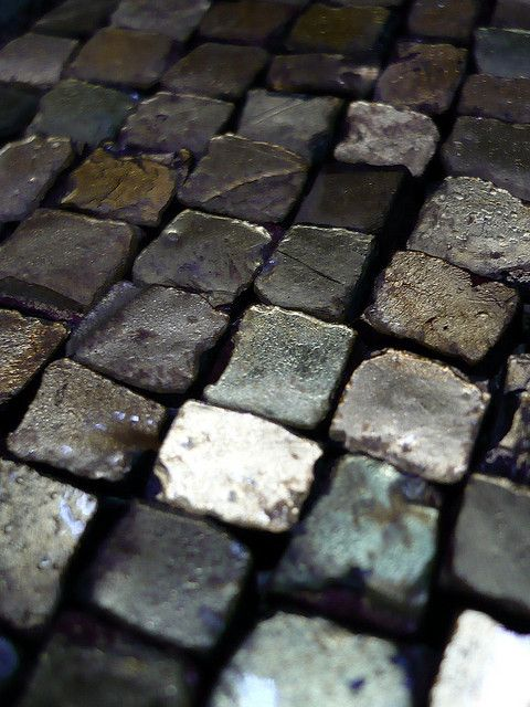 grey, steffen tuck, look almost metallic, are they stone setts, graphite pieces or metal blocks?
