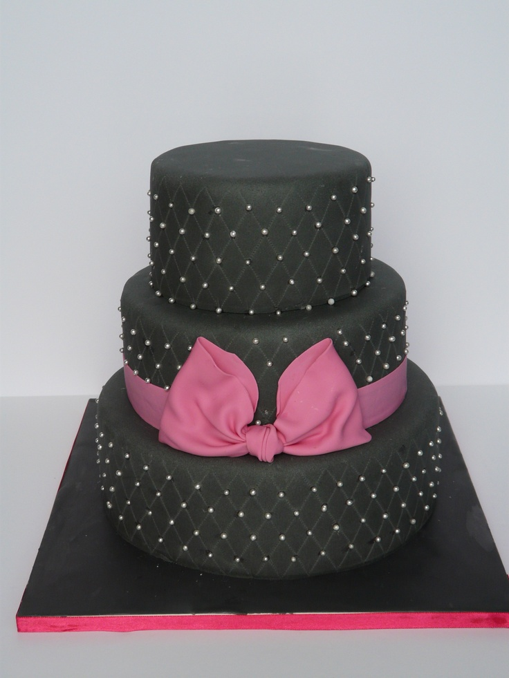 Elegant Birthday Cake Www Laura Moser Com My Creations