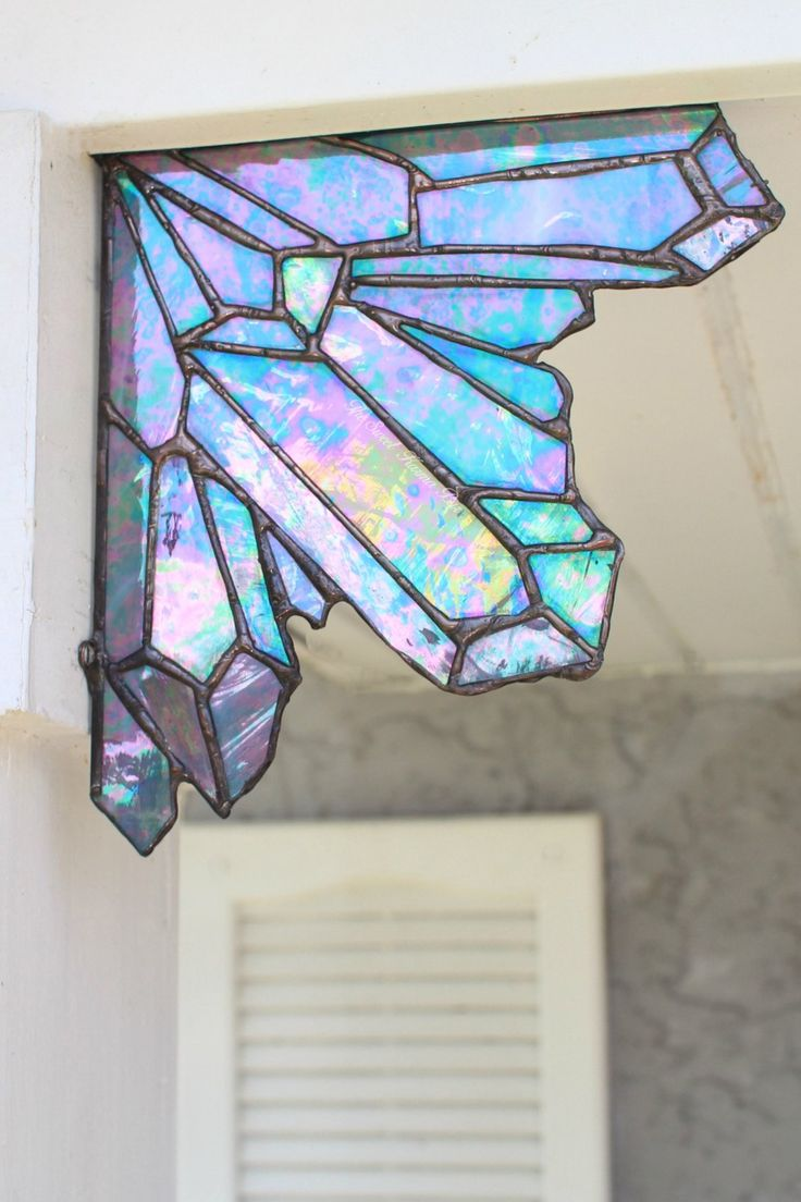 Beach theme decoration stained glass window panels arts crafts - Crystal Themed Home Decor Crystal Stained Glass Art