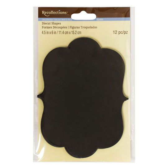 Ornate Paper Chalkboard Tags by Recollections™