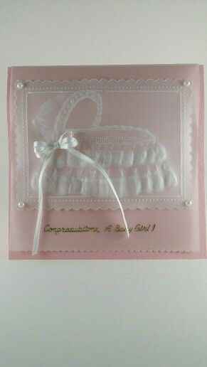 Parchment Baby Girl Card