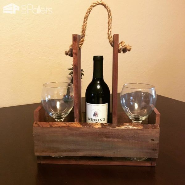 Quick Pallet Wine Holder for Outdoor Picnics Or... Pallet Home Accessories