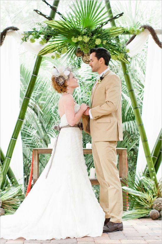 unique wedding alter