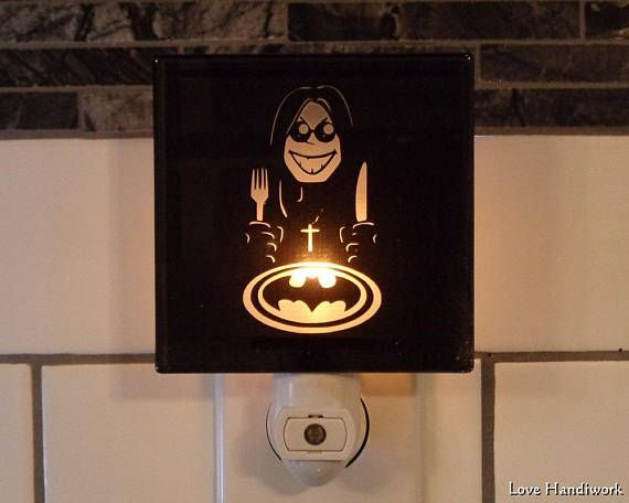 SAMPLE Sell-Off    OZZY Versus BATMAN Etched Glass Black Wall