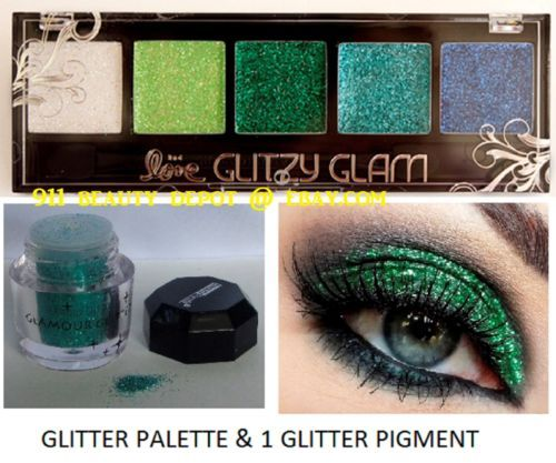 5-NEW-Eye-shadow-Color-Makeup-PRO-GLITTER-Eyeshadow-PALETTE