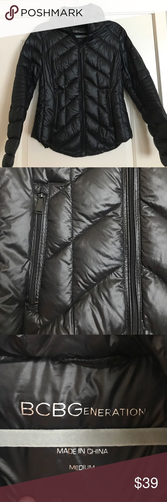 BCBG down puffer jacket! Black, size Medium! All black BCBG down puffer fitted jacket! So lightweight and cozy! A winter ❄️ must have! BCBGeneration Jackets & Coats Puffers