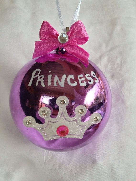 Pink and purple princess Christmas bauble. on Etsy, $14.95 AUD