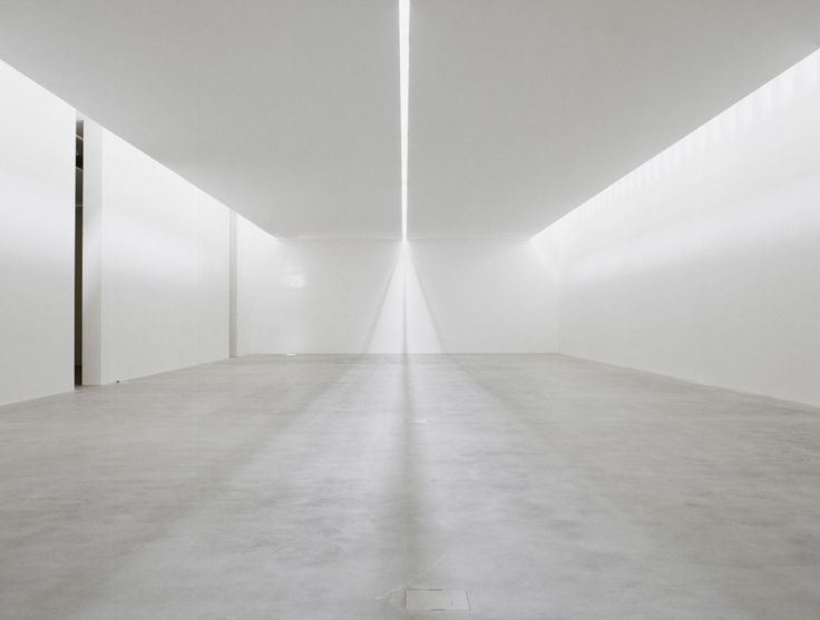 Light filled exhibition space by Claudio Silvestrin.